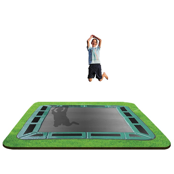 Rectangle In Ground Trampoline 10x14ft By Oz Trampolines