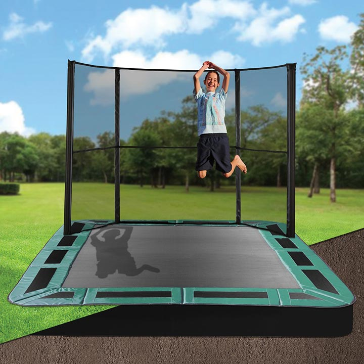 10 x 14 rectangle inground trampolines. Black Bedroom Furniture Sets. Home Design Ideas