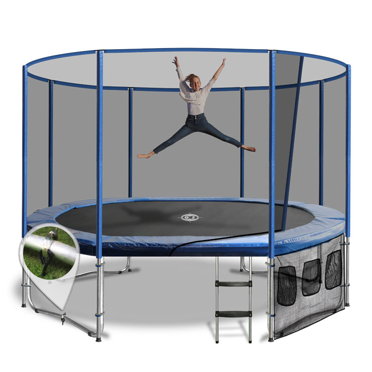 Trampoline Springs Off: 10 X 15 Oval Trampoline With The Lot