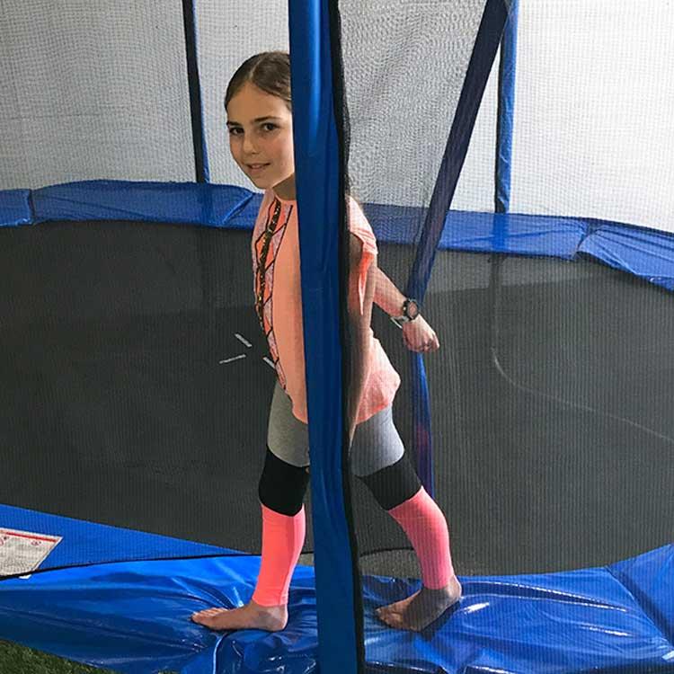 12ft Trampoline Safety Net & Poles Pack In Blue