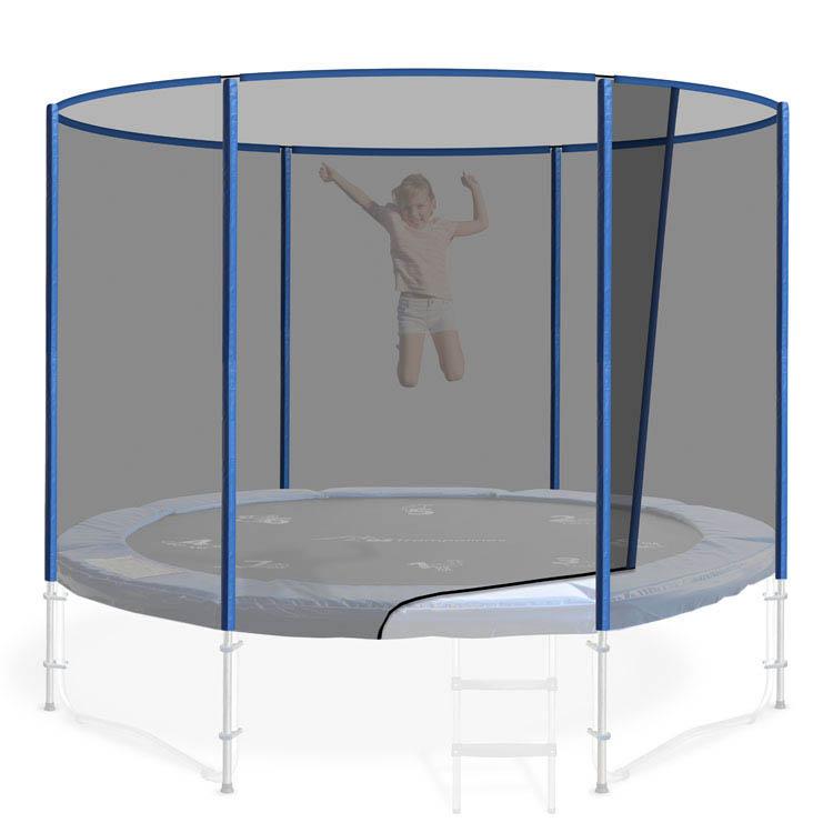 12ft Round Trampoline Safety Net In Blue Oz Trampolines