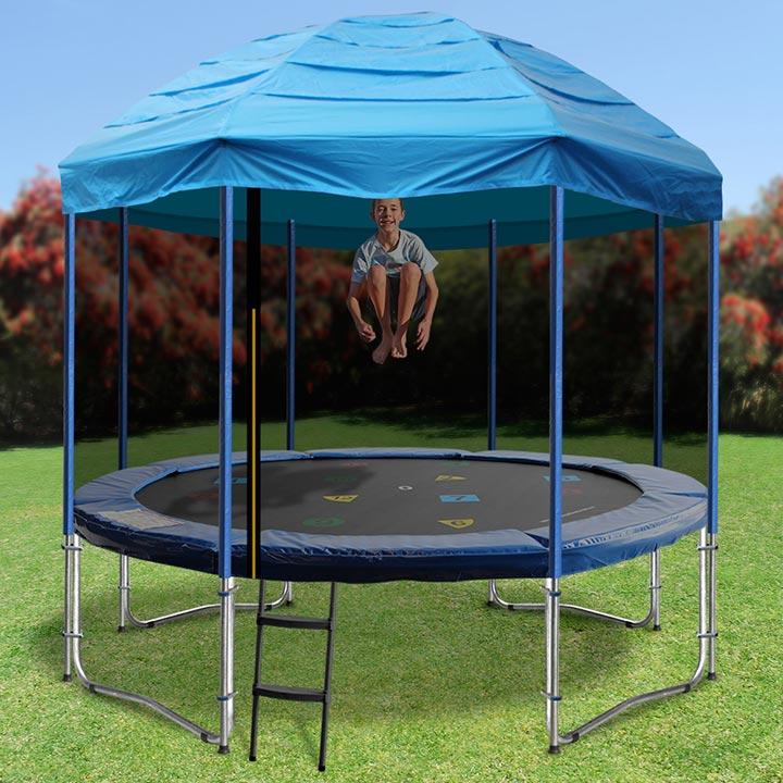 Trampline Tent & SUPER SAFE Tr&oline 14 Ft With Tent Net