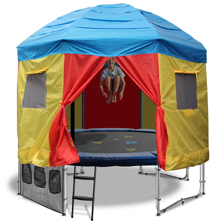 12ft Trampoline With Trampoline Tent Cover Circus Tent