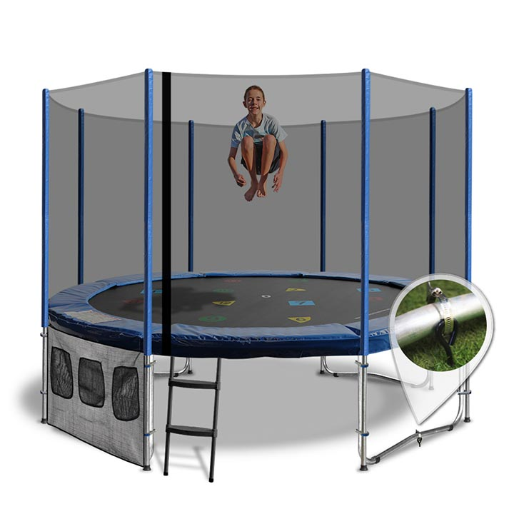 12FT TRAMPOLINE WITH CIRCUS TENT  sc 1 st  Oz Tr&olines & 12ft Trampoline with Trampoline Tent Cover - Circus Tent Design