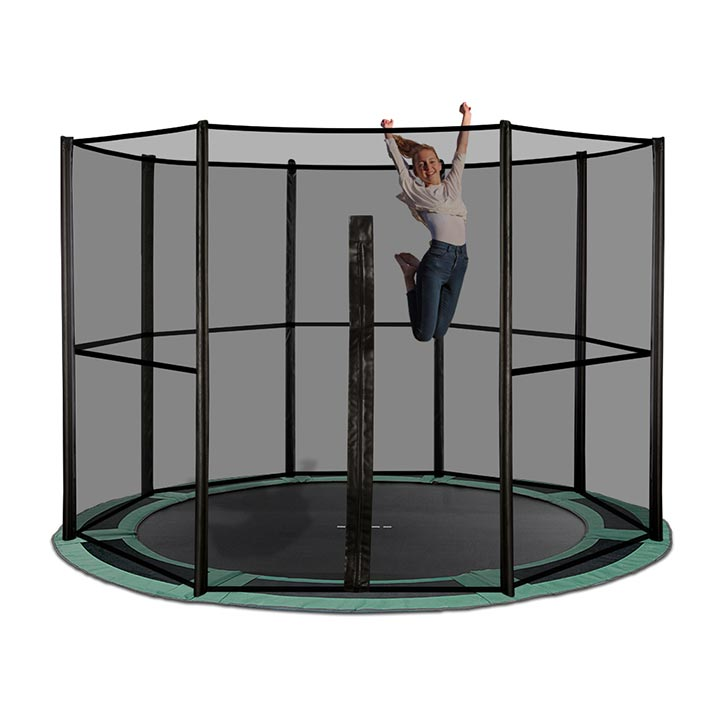 12ft Full Net Enclosure For Inground Trampoline By Oz