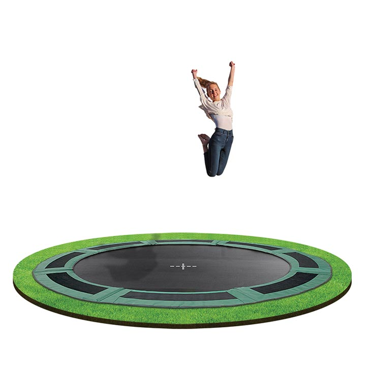 12ft In Ground Trampoline By Oz Trampolines