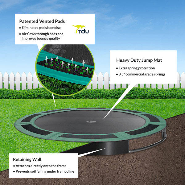Trampoline Springs Off: 12ft In Ground Trampoline By Oz Trampolines