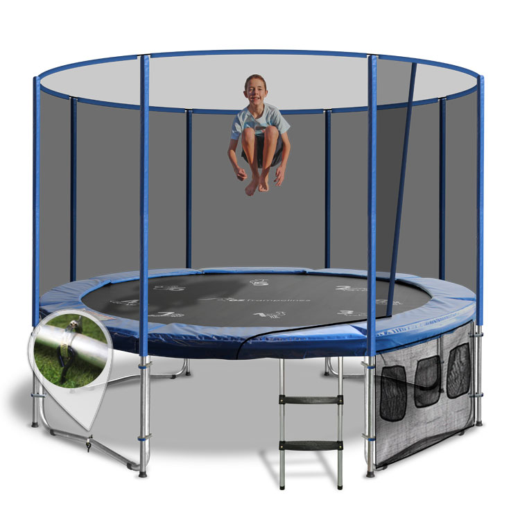 12ft Trampoline Above Ground With Enclosure By Oz