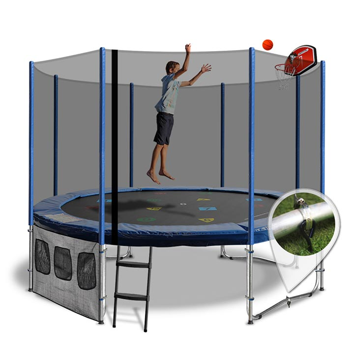 Trampoline 12ft With Slam Dunk Kit With