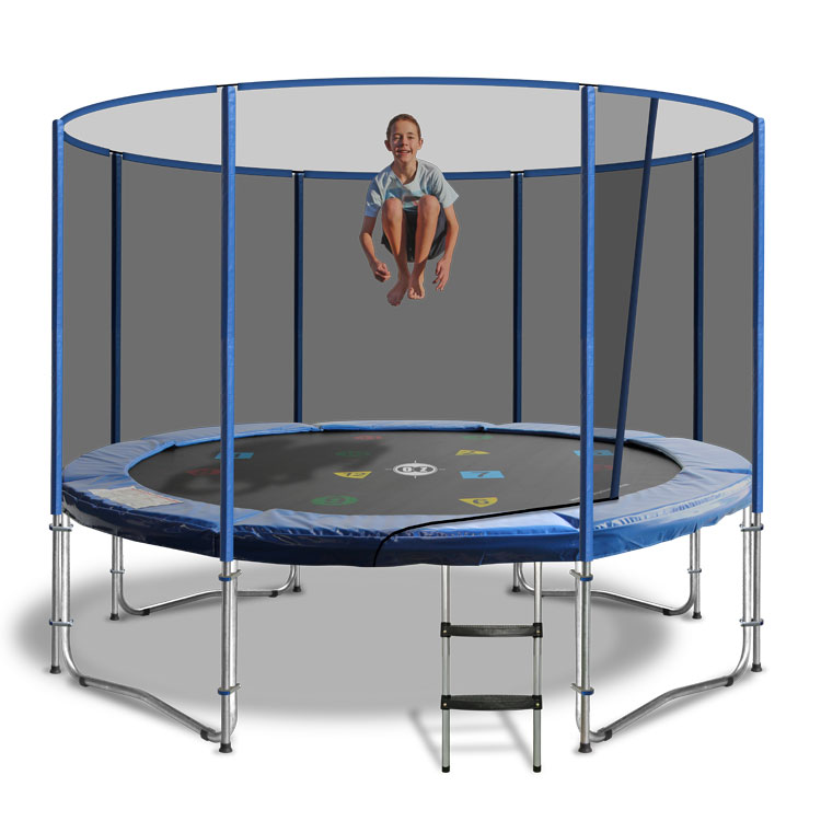 13ft Round Trampoline Safety Net In Blue