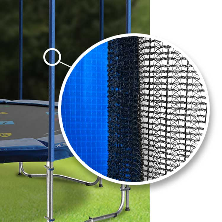 13ft Round Trampoline Safety Net In Blue