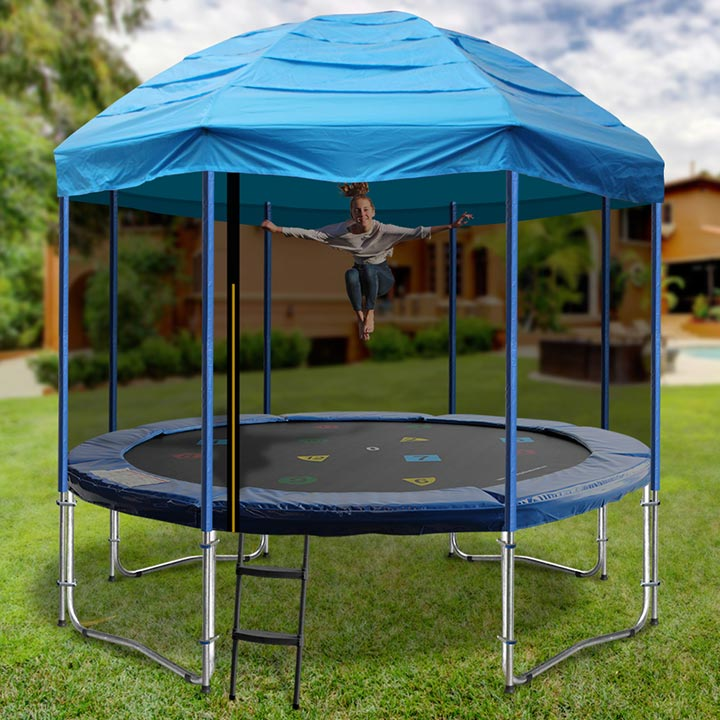 14FT TRAMPOLINE WITH CIRCUS TENT & 14ft Trampoline with tent from Oz Trampolines