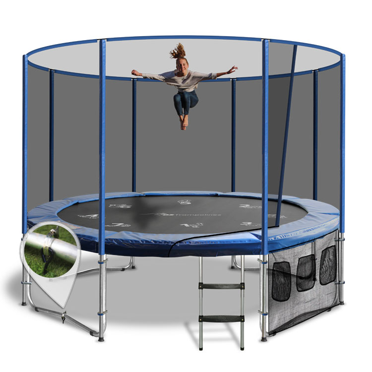 14ft Trampoline Above Ground With Enclosure By Oz
