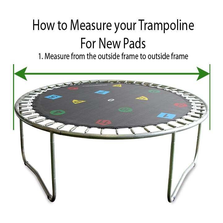 10 12 14ft Round Safety Frame Blue Pad Spring Pad: 14ft Trampoline Safety Pad - Round