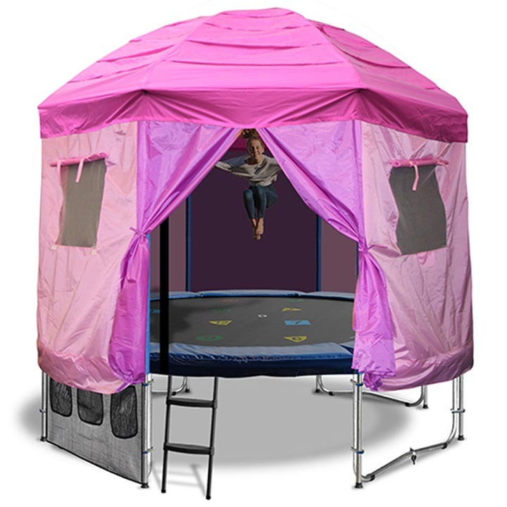14FT TRAMPOLINE WITH PRINCESS TENT  sc 1 st  Oz Tr&olines & 14ft Trampoline with tent
