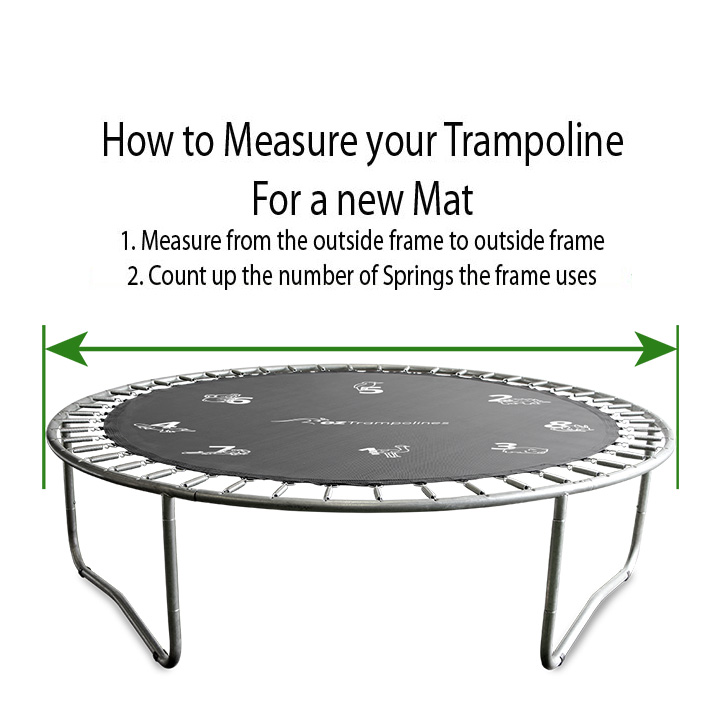Trampoline Replacement Jumping Mat For 14 Ft Round Frames: 14ft Printed Trampoline Mat 96 Springs