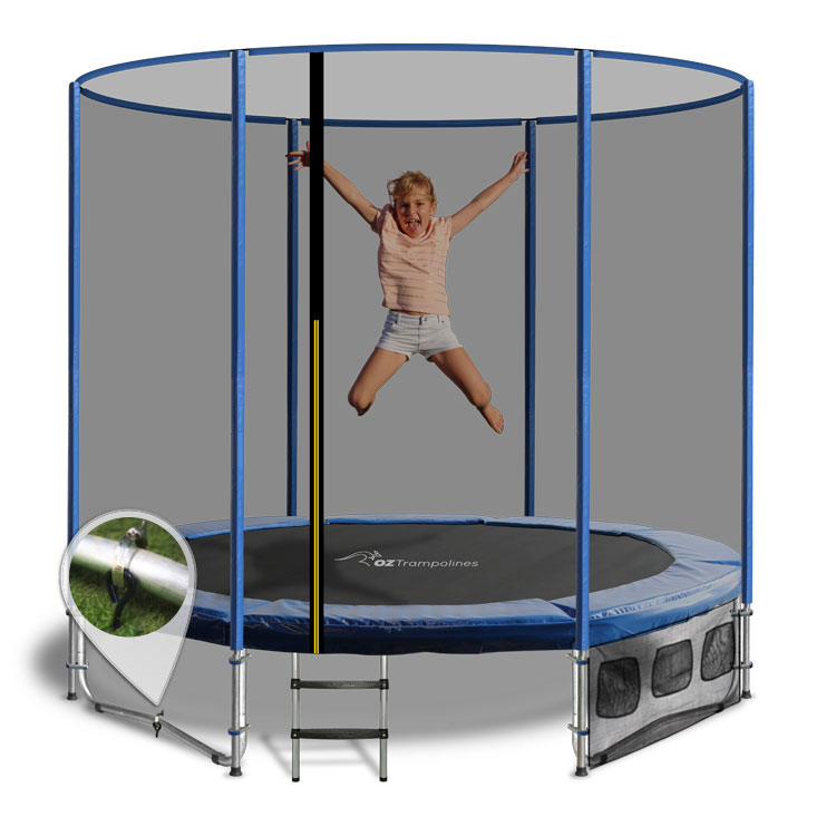 6ft Trampoline Above Ground With Enclosure By Oz Trampolines