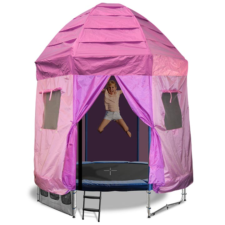 6FT TRAMPOLINE WITH PRINCESS TENT  sc 1 st  Oz Tr&olines & 6ft Trampoline with princess tent