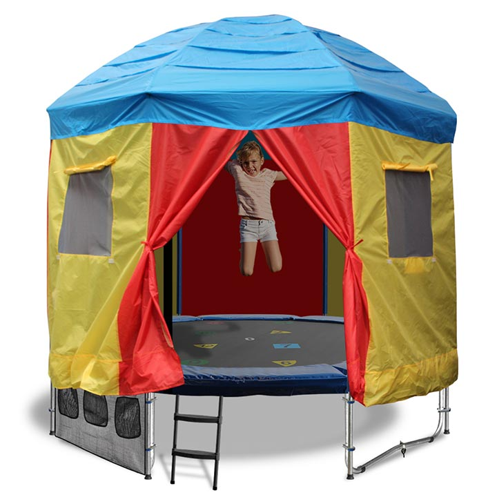 8ft Trampoline With Trampoline Tent Cover Circus Design
