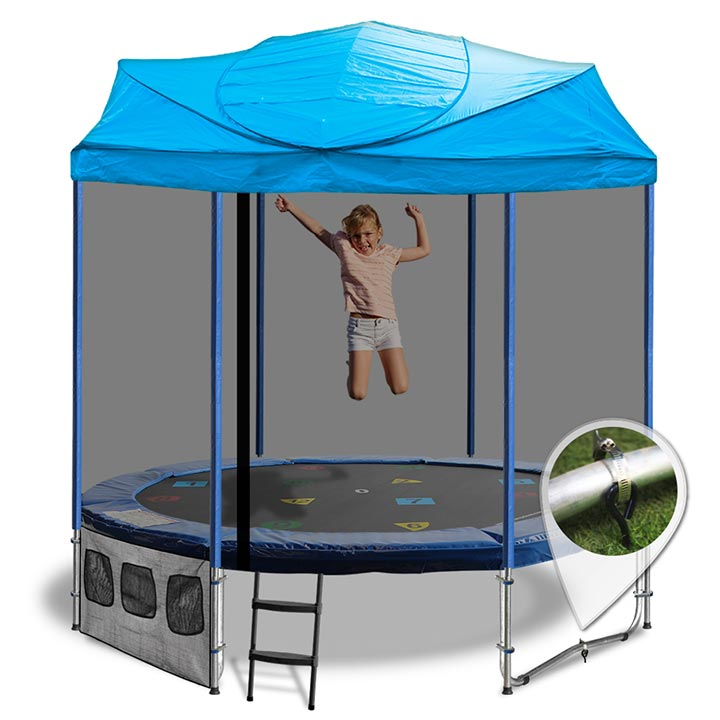 8FT TRAMPOLINE WITH CIRCUS TENT  sc 1 st  Oz Tr&olines & 8Ft Trampoline with Trampoline Tent Cover - Circus design