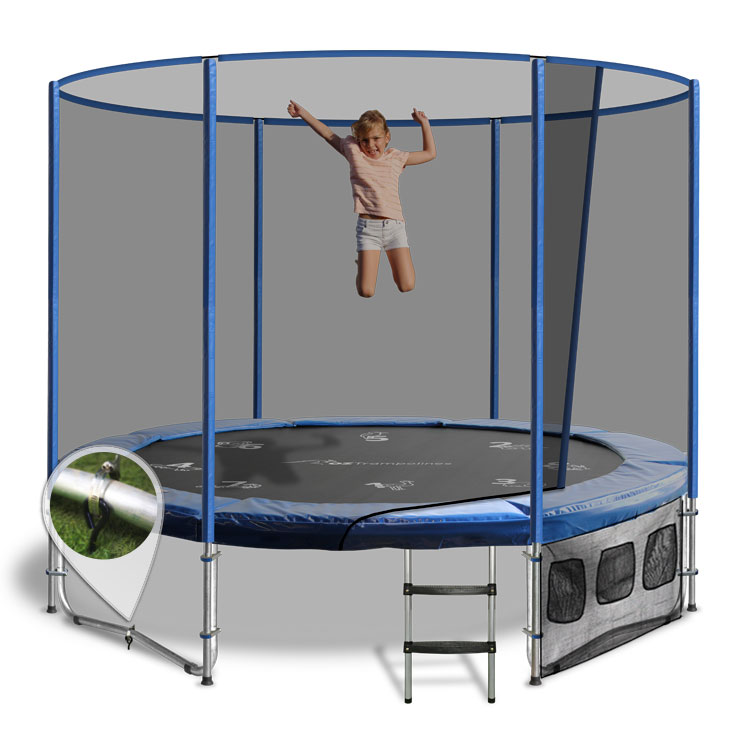 Above Ground With Enclosure By Oz Trampolines