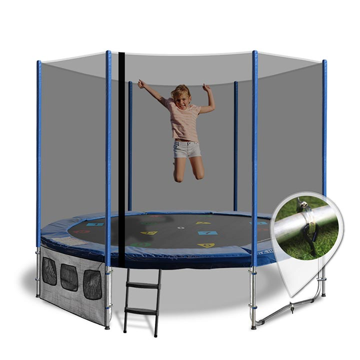 8ft Trampolines With Blue Roof
