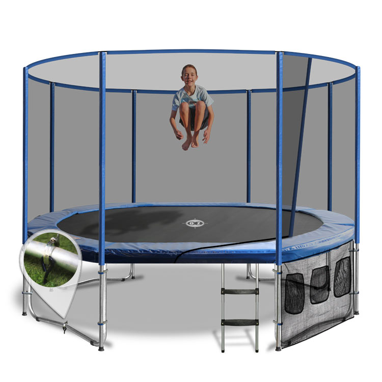 Rectangular Trampolines Offer The Safest Most Stable Bounce: 8 X 12 Oval Trampoline With The Lot