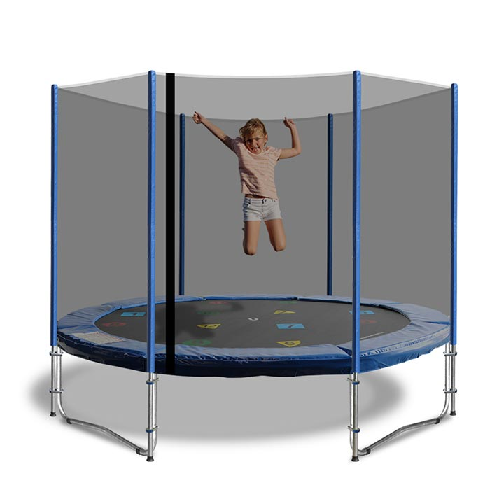 9ft Net And Pole Padding. A 9ft Trampoline Net And Pole