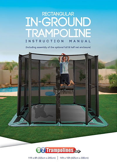 Rectangular In-Ground Trampoline